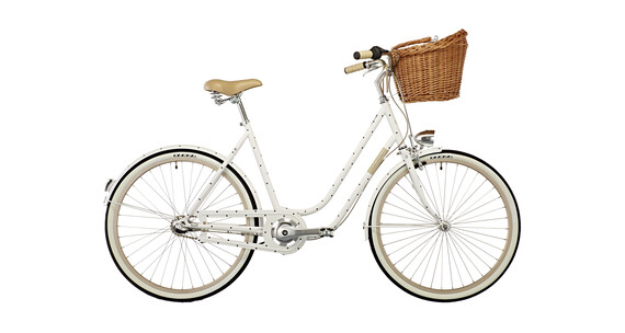 "Creme Molly Chic City Bike 26"" 3-speed white"
